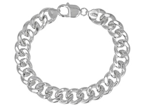 Sterling Silver 11.40MM Grumette Link Bracelet