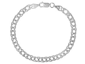 Sterling Silver 6.50MM Double Grumette Link Bracelet