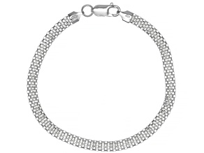 Sterling Silver 2.20MM Flat Box Link 8 Inch Bracelet