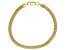 18K Yellow Gold Over Sterling Silver 2.20MM Flat Box Link 8 Inch Bracelet