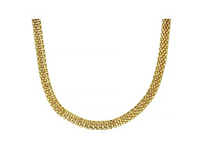 18K Yellow Gold Over Sterling Silver 4.85MM Flat Box Chain 20 Inch Necklace
