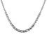 Sterling Silver 6.88MM Flat Graduated Byzantine Chain 20 Inch Necklace