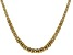18K Yellow Gold Over Sterling Silver 6.88MM Flat Graduated Byzantine Chain 20 Inch Necklace