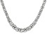 Sterling Silver 11.20MM Flat Graduated Byzantine Chain 20 Inch Necklace