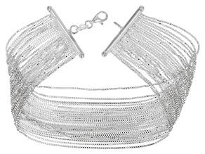 Sterling Silver Multi-Strand Box Link 7.5 Inch Bracelet