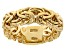 18K Yellow Gold Over Sterling Silver Byzantine Band Ring