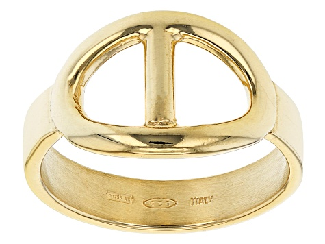 18K Yellow Gold Over Sterling Silver Mariner Link Ring