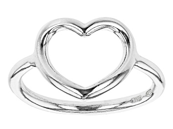 Picture of Sterling Silver Open Heart Design Ring
