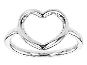 Sterling Silver Open Heart Design Ring