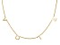 18K Yellow Gold Over Sterling Silver VOTE Initial Cable Chain 18 Inch with 2 Inch Extender Necklace