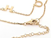 18K Yellow Gold Over Sterling Silver HOPE Initial Cable Chain 18 Inch with 2 Inch Extender Necklace