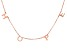 18K Rose Gold Over Sterling Silver HOPE Initial Cable Chain 18 Inch with 2 Inch Extender Necklace
