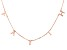 18K Rose Gold Over Sterling Silver FAITH Initial Cable Chain 18 Inch with 2 Inch Extender Necklace
