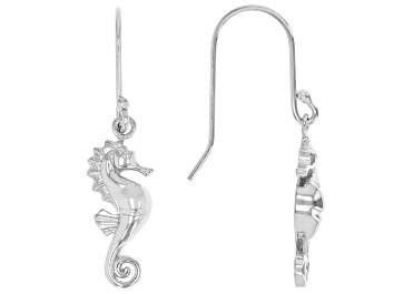 Picture of Sterling Silver Seahorse Drop Earrings