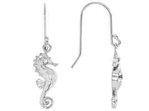 Sterling Silver Seahorse Drop Earrings