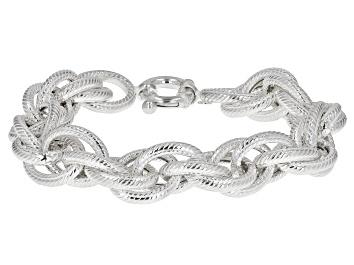 Picture of Sterling Silver 13.6MM Loose Rope Link Bracelet
