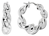 Sterling Silver Twisted High Polished Hollow Earrings