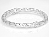 Sterling Silver 5.7MM Diamond-Cut Hinged Bangle