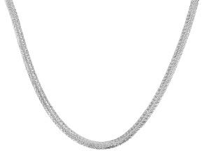 Sterling Silver 3.6MM Reversible Herringbone Chain