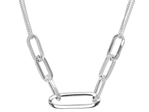 Sterling Silver Paperclip Necklace
