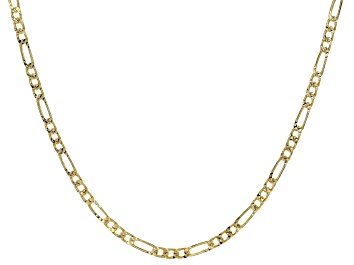 Picture of 18K Yellow Gold Over Sterling Silver 3.7MM Figaro Chain