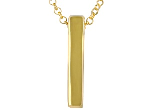 18K Yellow Gold Over Sterling Silver Bar Necklace