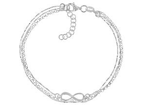 Sterling Silver Infinity Multi-Row Bracelet