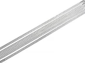 Sterling Silver Multi-Strand 1.7MM Herringbone Link Bracelet