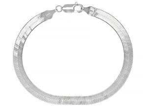 Sterling Silver 5.MM Reversible Herringbone Link Bracelet