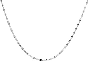 Sterling Silver 4MM Mirror Link 18 Inch Chain