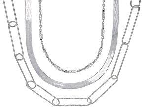 Sterling Silver Multi-Layer Necklace