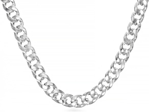 Sterling Silver 8.6mm Hollow Curb Chain
