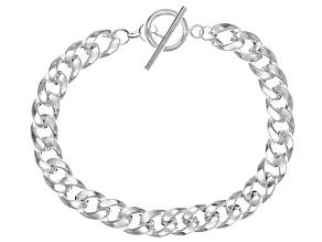 Sterling Silver Hollow Curb Link Bracelet