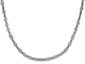 Sterling Silver Criss Cross Chain Necklace 18 inch