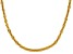 18k Yellow Gold Over Silver Criss Cross Chain Necklace 18 inch