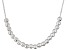 Diamond Cut Small Bead Sterling Silver Cable Link 18
