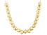 18k Yellow Gold Over Sterling Silver Small Bead Cable Link Necklace 18 inch