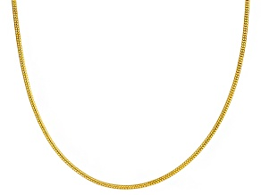 18k Yellow Gold Over Sterling Silver Snake Link Adjustable Necklace 24 inch