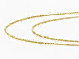 18k Yellow Gold Over Sterling Silver Popcorn Link Chain Set Of 2 18 inch 22 inch