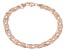 18k Rose Gold Over Sterling Silver Herringbone Link Bracelet 8 inch