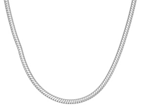 "Sterling Silver 18"" Snake Chain Necklace"