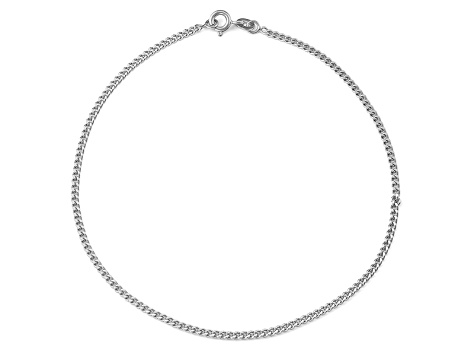 Sterling Silver Curb Chain Anklet