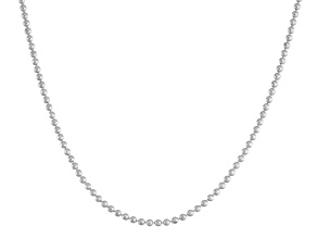 """Sterling Silver 16"""" - 22"""" Adjustable Beaded Chain"""