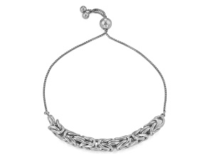 Sterling Silver Adjustable Byzantine Bracelet