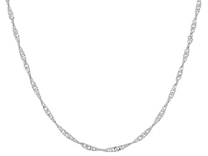 "Sterling Silver 16"" - 22"" Adjustable Singapore Chain"