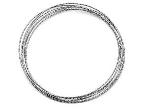 Sterling Silver Italian Dia. Cut/Polished Multi Link Bracelet