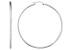 Polished Sterling Silver Round Tube Hoop Earrings