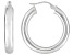 Polished Sterling Silver Round Tube Hoop Earrings