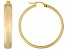 Polished 18k Yellow Gold Over Sterling Silver Round Hoop Earrings
