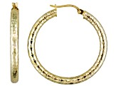 18k Yellow Gold Over Sterling Silver Tube Hoop Earrings